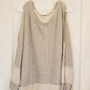 EUC Free People Cold Shoulder Sweatshirt